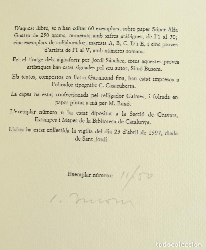 Arte: Places de Barcelona, Simó Busom, Josep Mª Cadena, 1997, grabados prueba de artista, edición limitada - Foto 10 - 268611944