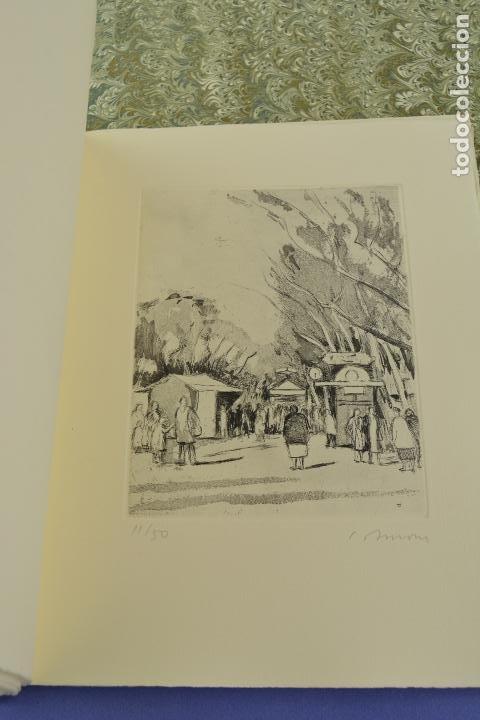 Arte: Places de Barcelona, Simó Busom, Josep Mª Cadena, 1997, grabados prueba de artista, edición limitada - Foto 11 - 268611944
