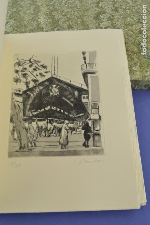 Arte: Places de Barcelona, Simó Busom, Josep Mª Cadena, 1997, grabados prueba de artista, edición limitada - Foto 12 - 268611944