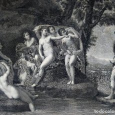 Arte: VIDERAT ACTAEON NUDAM SINE VESTE DIANAM. FRANCESCO RAINALDI. GRABADO SOBRE PAPEL. ITALIA. 1800. Lote 268615629