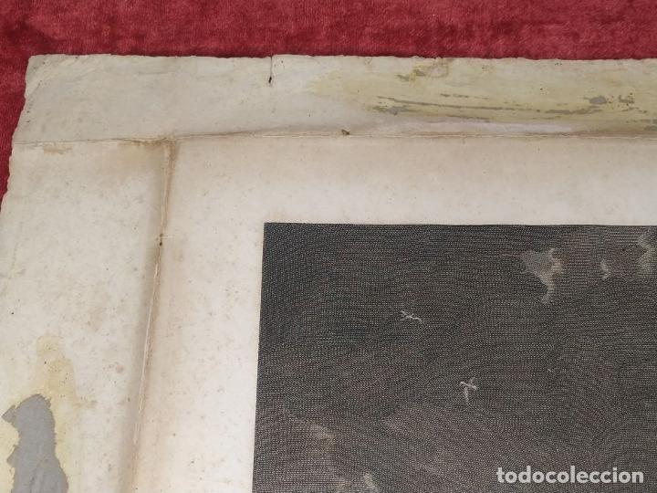 Arte: DIDONE ED ENEA RIFUGIATTI NELL ANTRO. ANTONIO REGONA. GRABADO SOBRE PAPEL. ITALIA. XVIII-XIX - Foto 4 - 268693519