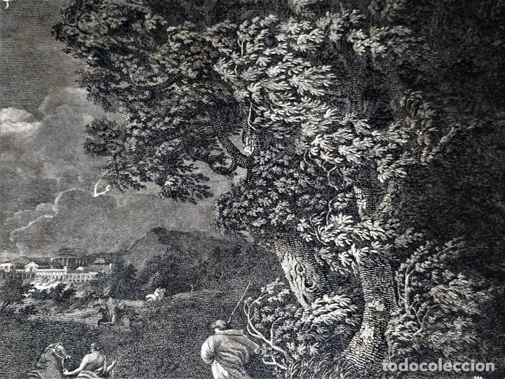 Arte: DIDONE ED ENEA RIFUGIATTI NELL ANTRO. ANTONIO REGONA. GRABADO SOBRE PAPEL. ITALIA. XVIII-XIX - Foto 5 - 268693519