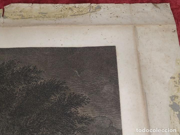 Arte: DIDONE ED ENEA RIFUGIATTI NELL ANTRO. ANTONIO REGONA. GRABADO SOBRE PAPEL. ITALIA. XVIII-XIX - Foto 7 - 268693519