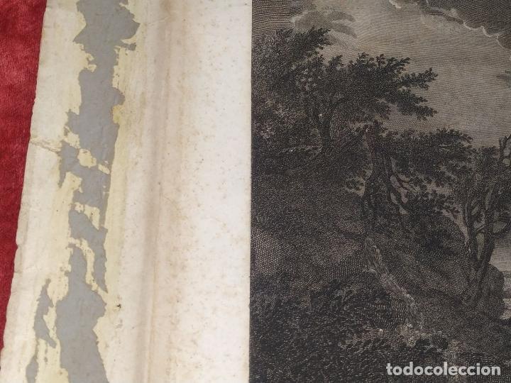 Arte: DIDONE ED ENEA RIFUGIATTI NELL ANTRO. ANTONIO REGONA. GRABADO SOBRE PAPEL. ITALIA. XVIII-XIX - Foto 9 - 268693519