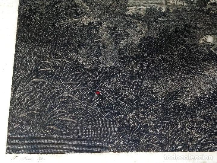 Arte: DIDONE ED ENEA RIFUGIATTI NELL ANTRO. ANTONIO REGONA. GRABADO SOBRE PAPEL. ITALIA. XVIII-XIX - Foto 10 - 268693519
