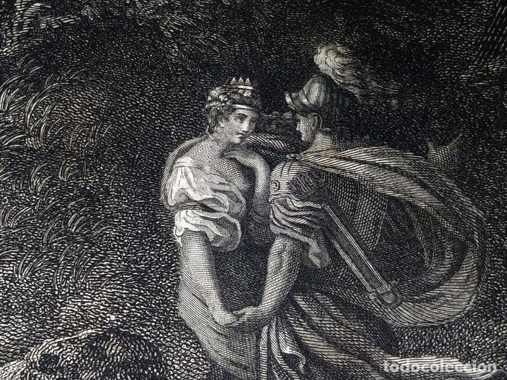 Arte: DIDONE ED ENEA RIFUGIATTI NELL ANTRO. ANTONIO REGONA. GRABADO SOBRE PAPEL. ITALIA. XVIII-XIX - Foto 11 - 268693519