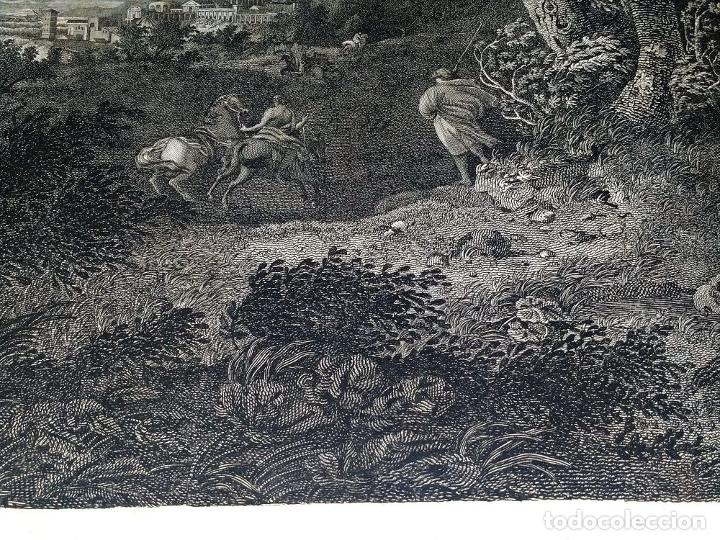 Arte: DIDONE ED ENEA RIFUGIATTI NELL ANTRO. ANTONIO REGONA. GRABADO SOBRE PAPEL. ITALIA. XVIII-XIX - Foto 12 - 268693519