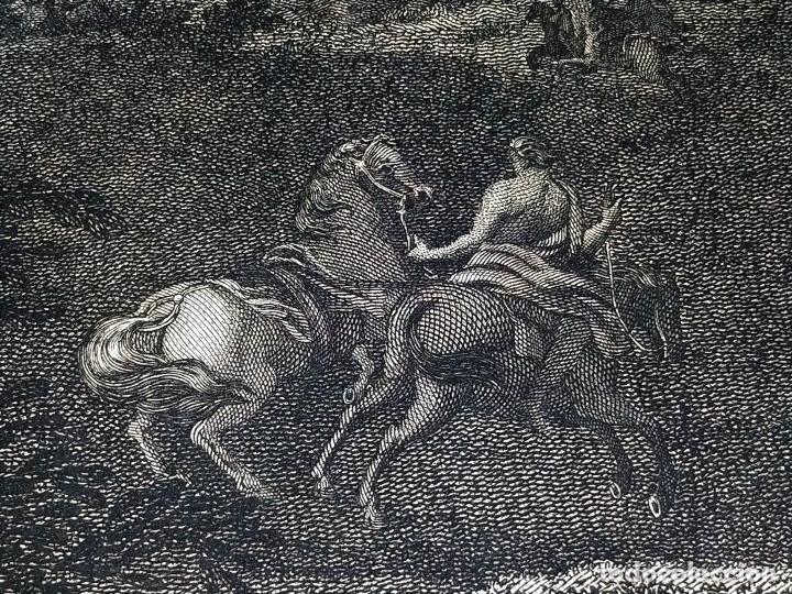 Arte: DIDONE ED ENEA RIFUGIATTI NELL ANTRO. ANTONIO REGONA. GRABADO SOBRE PAPEL. ITALIA. XVIII-XIX - Foto 14 - 268693519