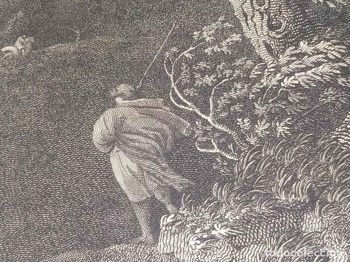Arte: DIDONE ED ENEA RIFUGIATTI NELL ANTRO. ANTONIO REGONA. GRABADO SOBRE PAPEL. ITALIA. XVIII-XIX - Foto 16 - 268693519