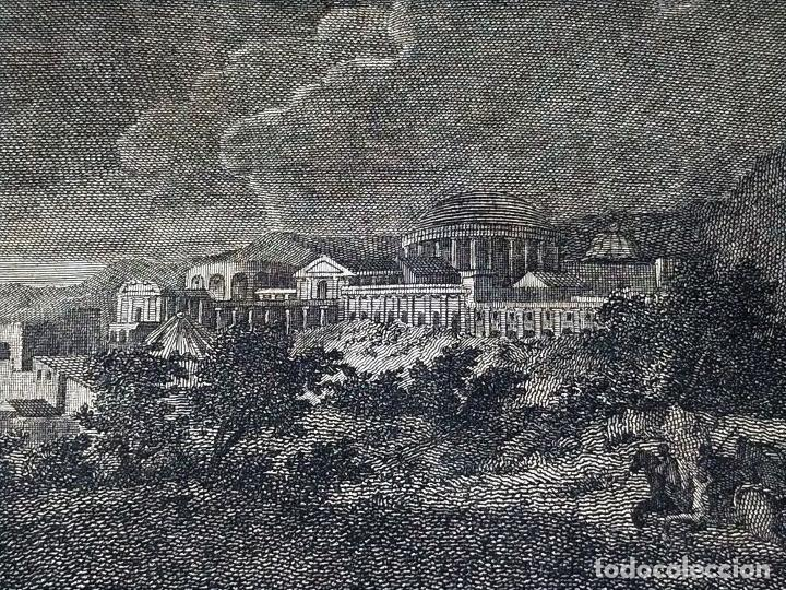 Arte: DIDONE ED ENEA RIFUGIATTI NELL ANTRO. ANTONIO REGONA. GRABADO SOBRE PAPEL. ITALIA. XVIII-XIX - Foto 17 - 268693519