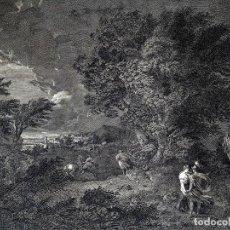 Arte: DIDONE ED ENEA RIFUGIATTI NELL ANTRO. ANTONIO REGONA. GRABADO SOBRE PAPEL. ITALIA. XVIII-XIX. Lote 268693519