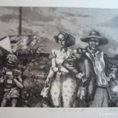 Arte: ANTONIO ZARCO (MADRID, 1930) GRABADO 1978 DE 32X25 PAPEL 48X37 FIRMA A LÁPIZ Y /200. PERFECTO. Lote 268869809