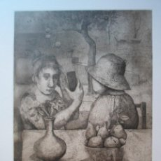 Arte: MONIQUE DE ROUX (BOULOGNE-BILLANCOURT FRANCIA 1946) GRABADO 32X24 PAPEL 50X38 FIRMA LÁPIZ Y /300, CR. Lote 268872534