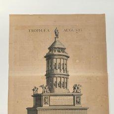 Arte: GRABADO ANTIGUO SIGLO XVIII TROPAEUM AUGUSTI TROFEO ALPES FRANCIA 1704 - BLAEU MORTIER. Lote 268883864