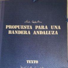Arte: JOSÉ CABALLERO. PROPUESTA PARA UNA BANDERA ANDALUZA. CARPETA CON 15 SERIGRAFÍAS.. Lote 268887249