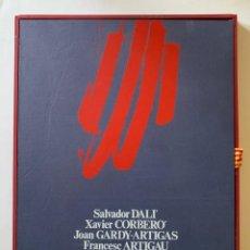 Arte: HOMENATGE F.C. BARCELONA 75 ANIVERSARI, DALÍ, CORBERÓ, GARDY-ARTIGAS, ARTIGAU, 1974. Lote 268900174