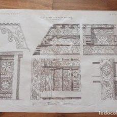 Arte: ESPLÉNDIDO GRABADO ARQUITECTURA, CASA BONAPARTE, PALMA DE MALLORCA, ORIGINAL MADRID,1878. Lote 268936989