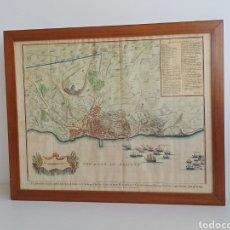 Arte: PLANO ORIGINAL DEL ASEDIO A LA CIUDAD DE ALICANTE. 1708.. Lote 268975924