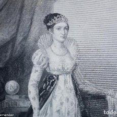 Arte: BONAPARTE MARIE ANNE ELISA GRANDE DUCHESE DE TOSCANE - HIERRE - PIEGOT 1820. Lote 268980554
