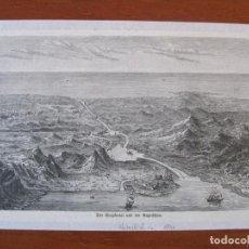 Arte: VISTA DEL CANAL DE SUEZ (EGIPTO, ÁFRICA), HACIA 1890. ANÓNIMO. Lote 269010529
