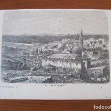 Arte: VISTA DE LA CIUDAD DE ALEJANDRÍA (EGIPTO, ÁFRICA), HACIA 1850. ANÓNIMO. Lote 269010819