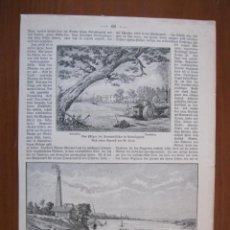 Arte: VISTAS PANORÁMICAS DE EGIPTO (ÁFRICA), 1898. ANÓNIMO. Lote 269011194