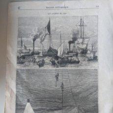 Arte: 1871 GRABADO SIGLO XIX BUSQUEDA TESORO BATALLA RANDE - VIGO - GALICIA - ORIGINAL PERIODICO FRANCES. Lote 269134053
