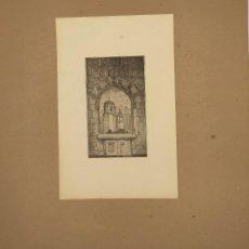 Arte: GRABADO DE ALEXANDRE DE RIQUER (1856-1920) DE 1914, EX LIBRIS PARA ANTON DALMAU. EXISTE COPIA MNAC. Lote 269248883