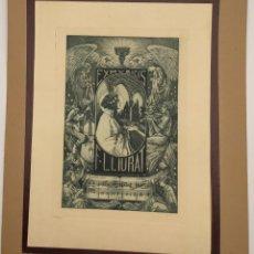 Arte: GRABADO DE ALEXANDRE DE RIQUER (1856-1920), DE 1906, EX LIBRIS. Lote 269250323