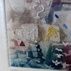 Arte: GRABADO AGUAFUERTE DE MONIR ISLAM, CERTIFICADO DE AUTENTICIDAD, NUMERADA Y FIRMADA. ''MEMORIA''.. Lote 269261013