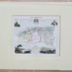 Arte: MAPA- LA FRANCE- AFRIQUE ALGÉRIE FRANÇAISE- DRESSÉE PAR A. VUILLEMIN GÉOGRAPHE. 24,5 X 20,5 CM. Lote 269261343