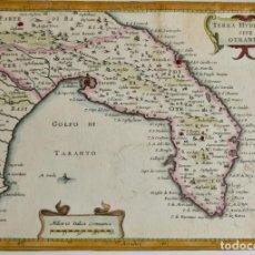 Arte: ITALIA ,PUGLIA; J.HONDIUS- TERRA HYDRUNTY SIVE OTRANTO-1621-1650. Lote 269268758