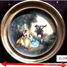 Arte: CUADRO REDONDO ESTILO FRANCÉS ESCENA CAMPESTRE SIGLO XVIII. Lote 269275923