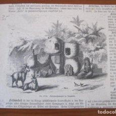 Arte: MUJER HILANDO Y NIÑO CAMPESINOS (EGIPTO), HACIA 1850. ANÓNIMO. Lote 269372548