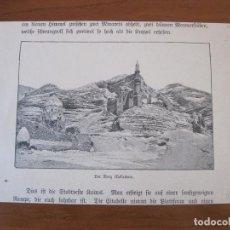 Arte: VISTA DE LA MONTAÑA DE MOKATTAM (EGIPTO, ÁFRICA), 1856.. Lote 269374258