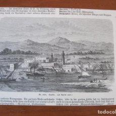 Arte: VISTA DEL PUERTO DE SUAKIN (SUDÁN, EGIPTO), 1857. ANÓNIMO. Lote 269375183