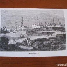 Arte: VISTA DE LA CIUDAD DE DAMIETA (EGIPTO), 1855. ANÓNIMO. Lote 269375583
