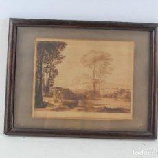 Arte: CLAUDE LORRAINE, PAISAJE, PAREJA Y ÁRBOLES, GRABADO, 1777, CHEAPSIDE. 27X22CM. Lote 269378853