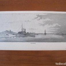 Arte: VISTA DEL CANAL DE SUEZ (EGIPTO, ÁFRICA), HACIA 1885. ANÓNIMO. Lote 269379113