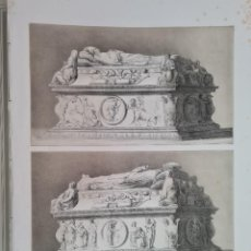 Arte: GRABADO TOLEDO SEPULCRO CARDENAL ARZOBISPO DON JUAN TAVERA HOSPITAL SAN JUAN BAUTISTA PEREZ VILLAMIL. Lote 269466278