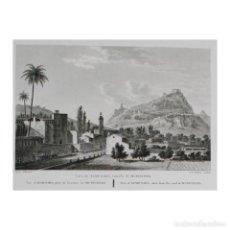 Arte: ALEXANDRE DE LABORDE - VISTA Y PLANO DE ALMENARA - AÑO 1820. Lote 269470678