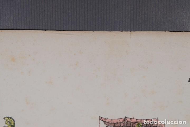 Arte: Grabado coloreado ceremonia principios siglo XX - Foto 2 - 269743823