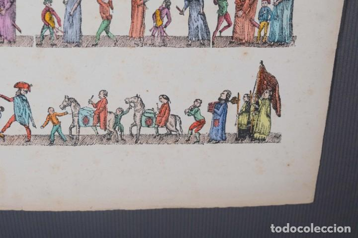 Arte: Grabado coloreado ceremonia principios siglo XX - Foto 4 - 269743823