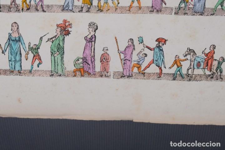 Arte: Grabado coloreado ceremonia principios siglo XX - Foto 5 - 269743823