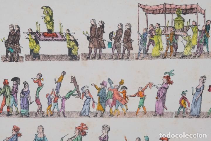 Arte: Grabado coloreado ceremonia principios siglo XX - Foto 7 - 269743823