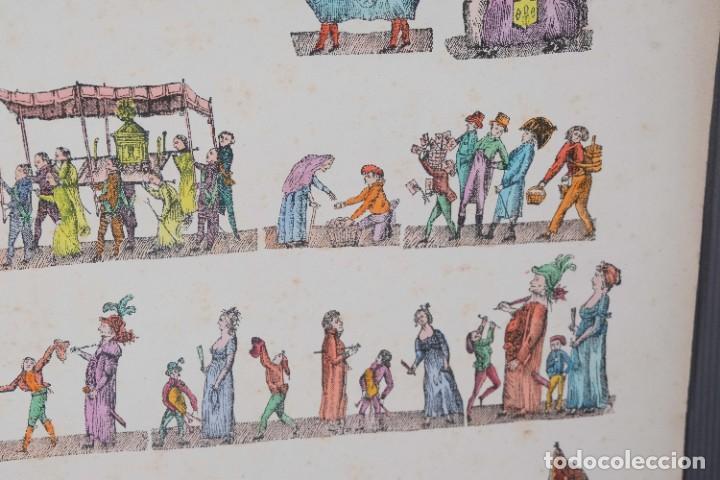 Arte: Grabado coloreado ceremonia principios siglo XX - Foto 8 - 269743823