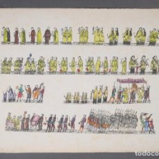 Arte: GRABADO COLOREADO CEREMONIA RELIGIOSA PRINCIPIOS SIGLO XX. Lote 269744358