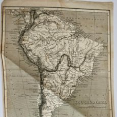Arte: MAP SOUTH AMERICA 1810 BY SHERWOOD,NEELY AND JONES,PATERNOSTER ROW - 26,5 X 19,5 CM. Lote 269845028