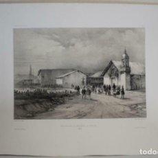 Arte: GRAN VISTA DE LA IGLESIA DE LA MERCED EN PAITA (PERÚ), 1840. LAUVERGNE/MAYER-BAYOT/BERTRAND. Lote 270875688