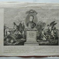 Arte: GRABADO EN MEMORIA DEL CAPITAN GENERAL LUIS DE LACI / LACY. MILITAR .1820. Lote 270977058